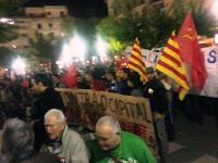 manifestación, huelga general, Huesca