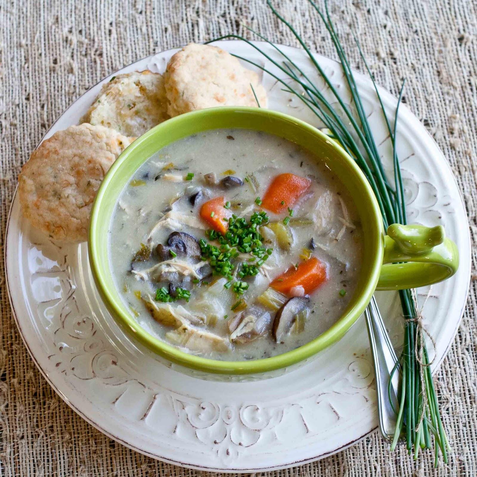 FOODjimoto: Creamy Chicken & Mushroom Stew