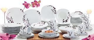 Aparelho de Jantar 73 peças em Porcelana