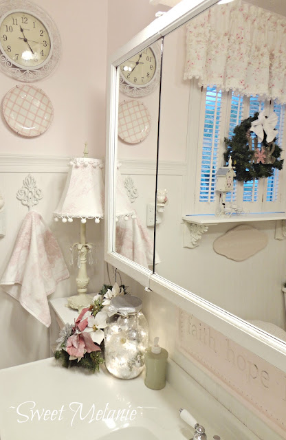 sink Shabby chic Christmas Home tour