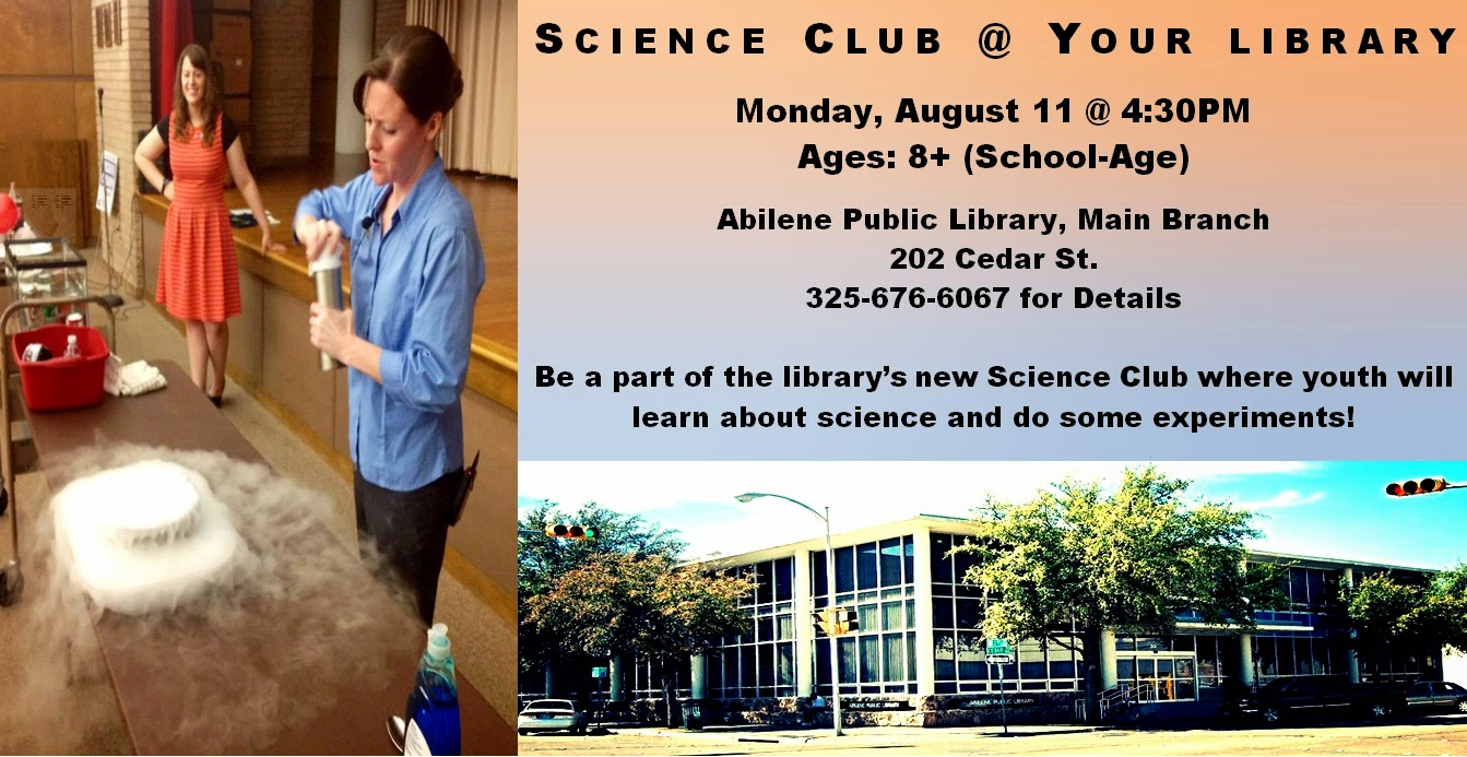 News/Events @ Your Library: Join Our New Science Club @ Your Library