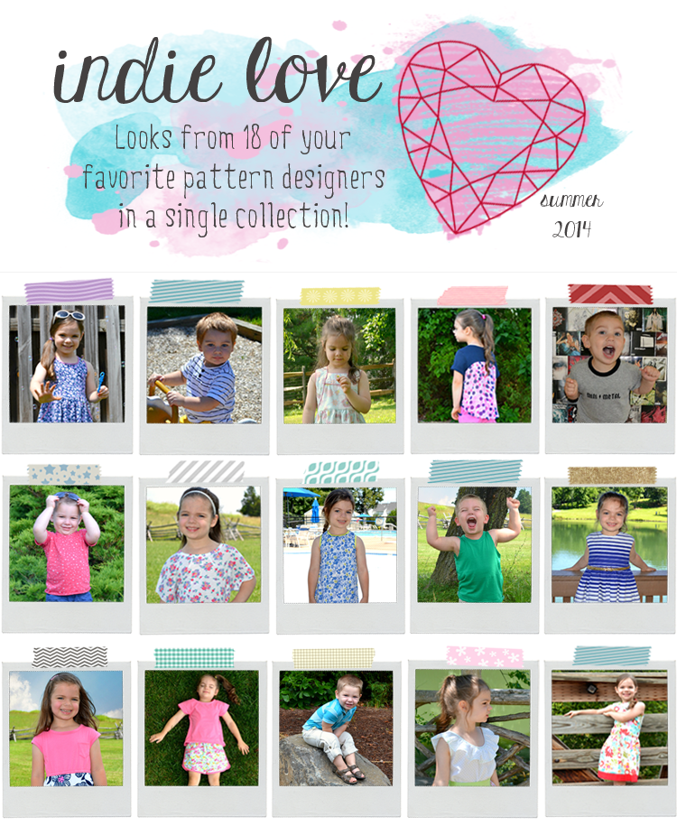 Sugar Tart Crafts' Indie Love Summer Collection: Looks from 18 of your favorite pattern designers in a single collection!
