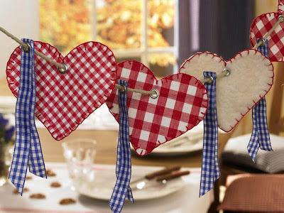 dia dos namorados - varal de coração patchwork