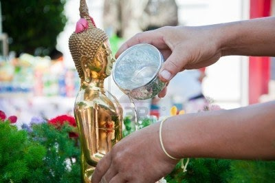 Songkran Festival in Thailand Holy Water