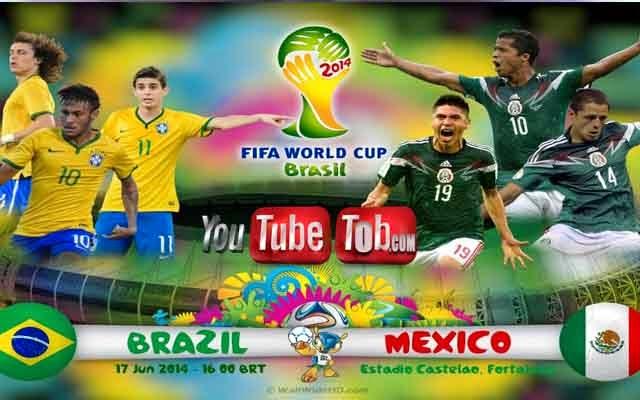 مشاهدة مباراة البرازيل والمكسيك بث مباشر اليوم 17-6-2014 كأس العالم Brazil vs Mexico
