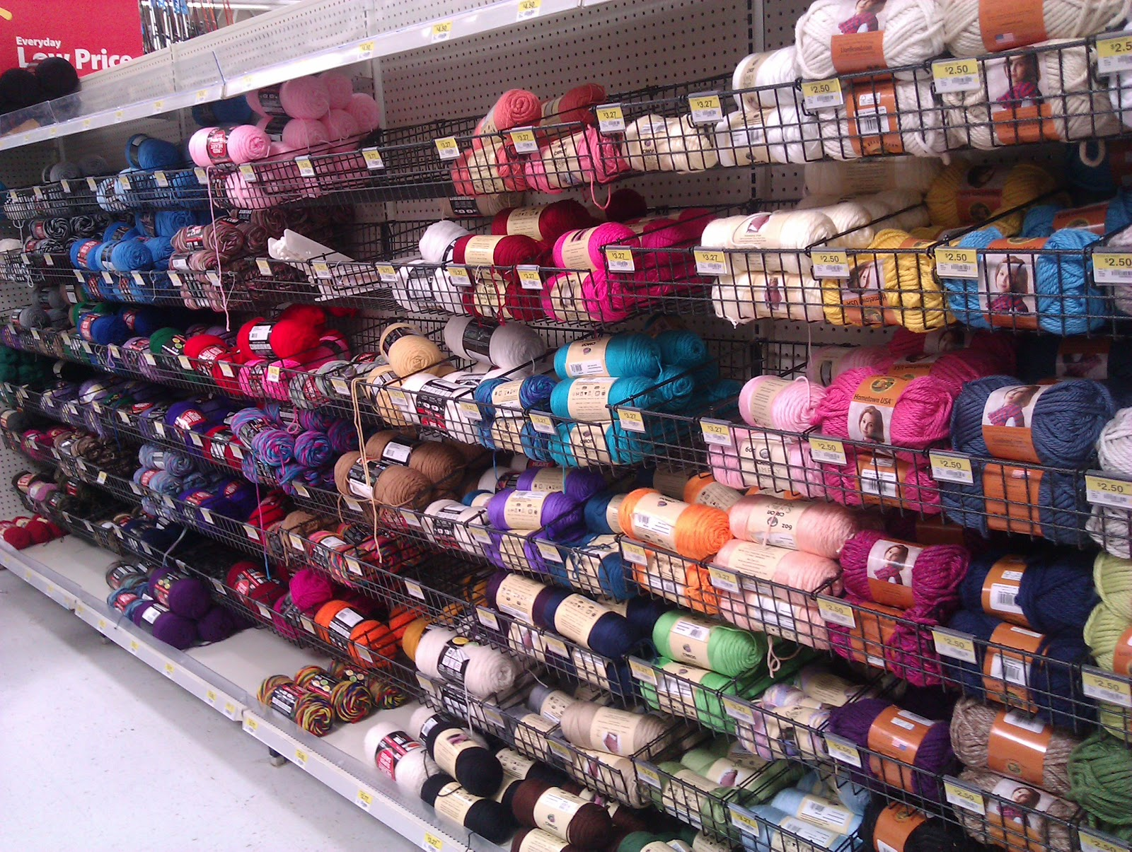 Crochet Yarn Walmart : Handmade by Haniyyah: Yarn shopping at Walmart