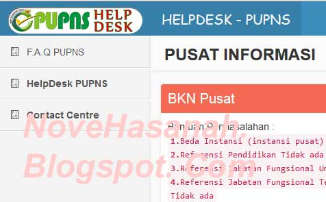 helpdesk dan bantuan tambahan lain di PUPNS 2015 BKN untuk PNS