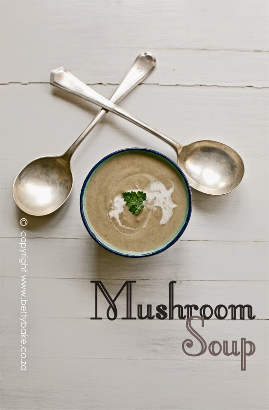 mushroom soup, betty bake, supper ideas, recipe, bowl of soup, yum