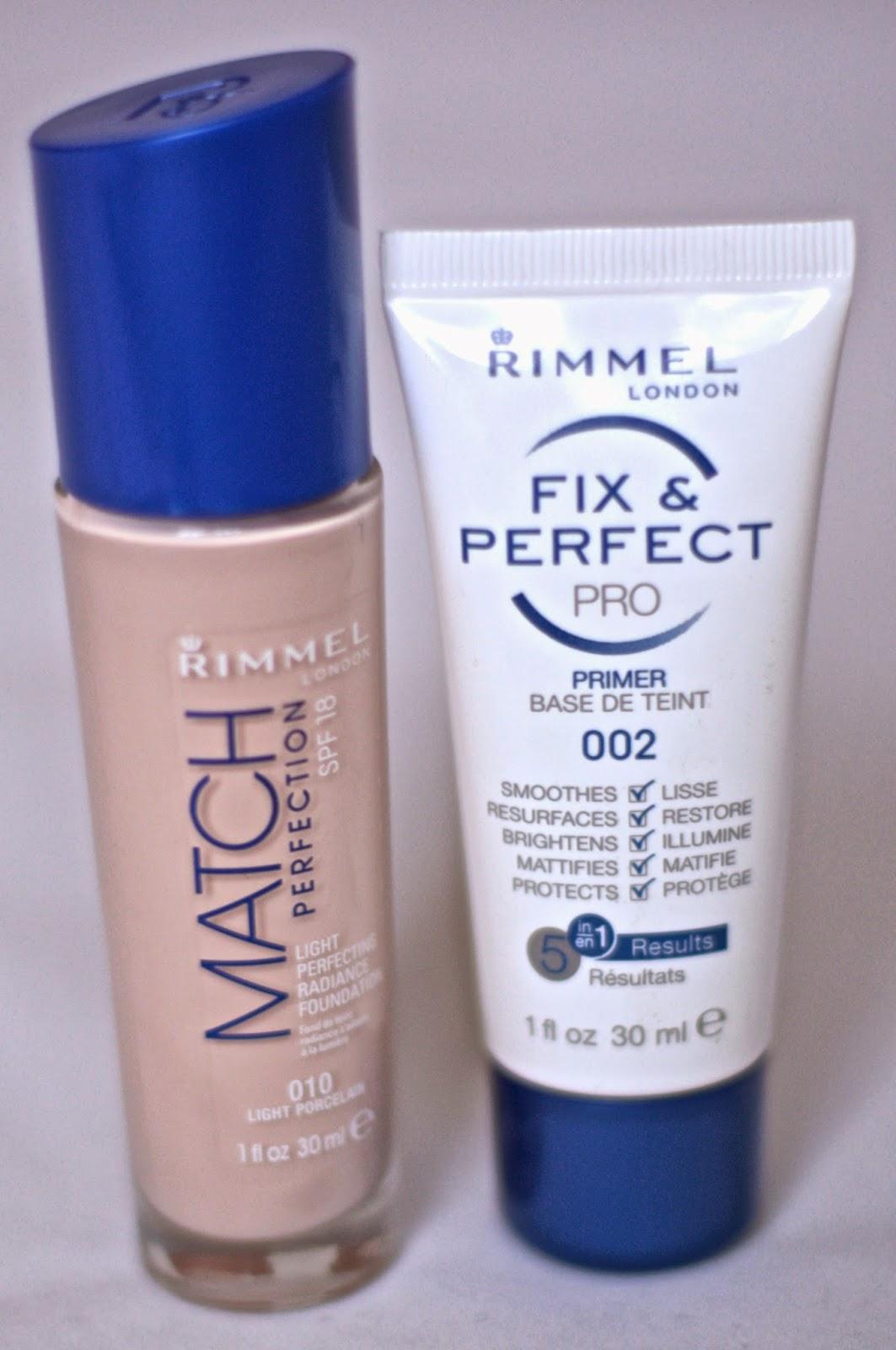 Rimmel Match Perfection foundation & Fix Perfect Pro Primer 002