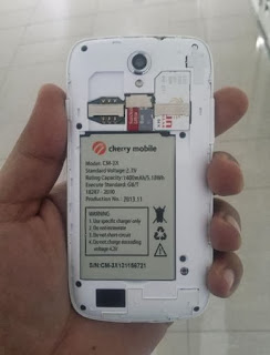 Cherry Mobile Amber Battery, Micro SD and SIM Card Slots