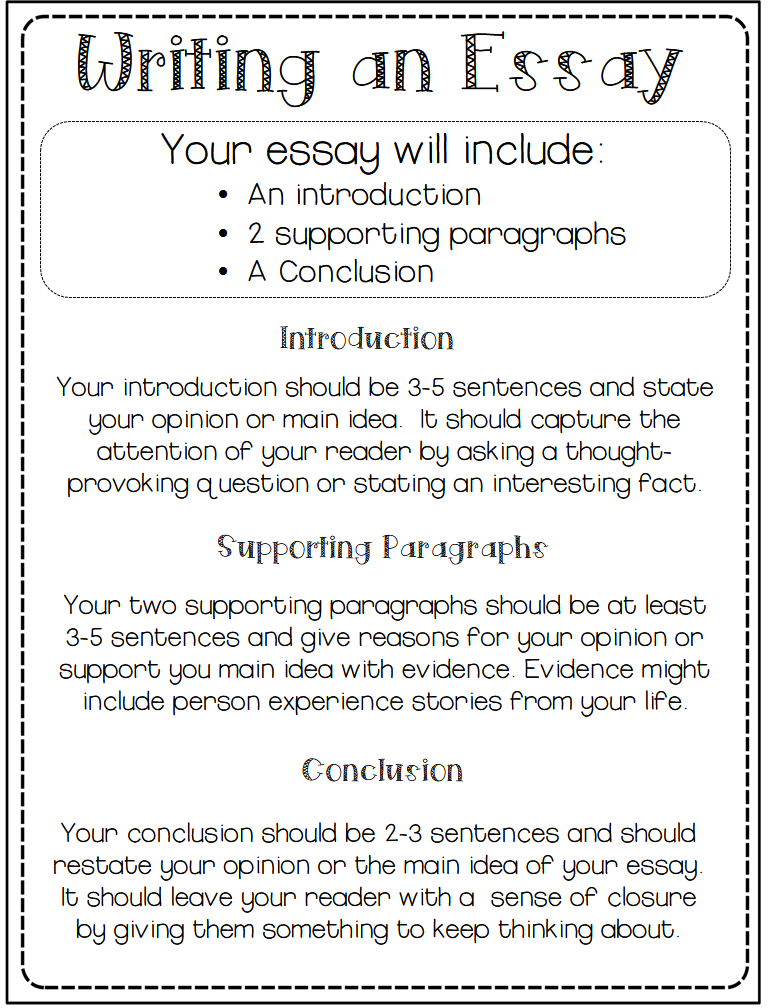 good essays From writing a personal narrative to composing a response to an ap essay question, developing a well-organized essay is a vital skill for both high school and college students.