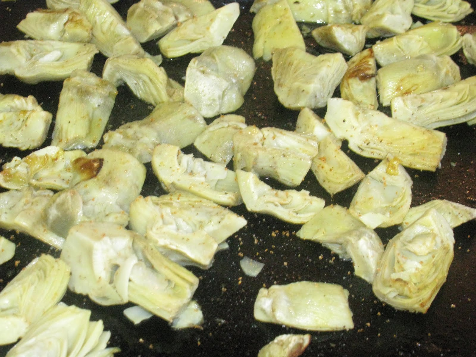 Shamrocks and Shenanigans: Roasted Artichoke Hearts