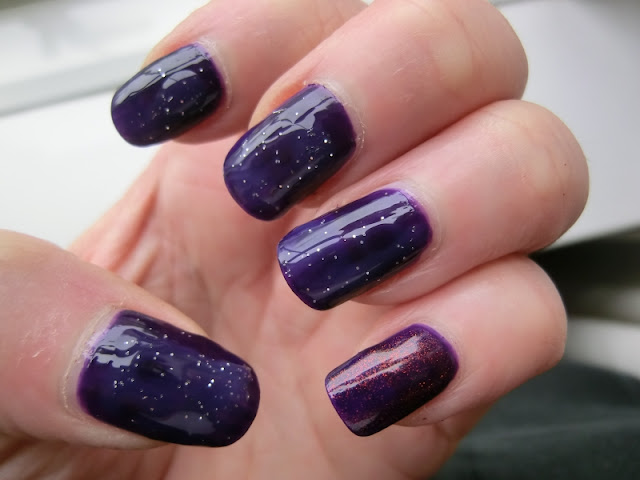 Simple Pleasures Purple Polish Swatch with glitter