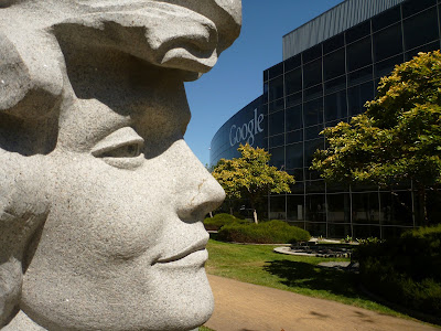 """""""Her Deepness"""" carved by Viktor in 2004 in honor of Deep Ocean Pioneer, Dr. Sylvia A. Earle – on the Google Campus"""
