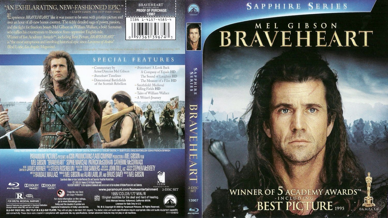 Braveheart Dvd Front Cover