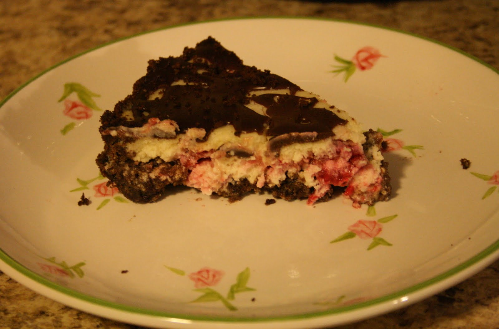 Raspberry Cream Cheese Pie was the winner. Chocolate graham cracker ...