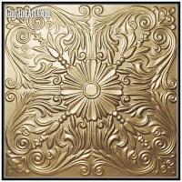 relief logam kuningan