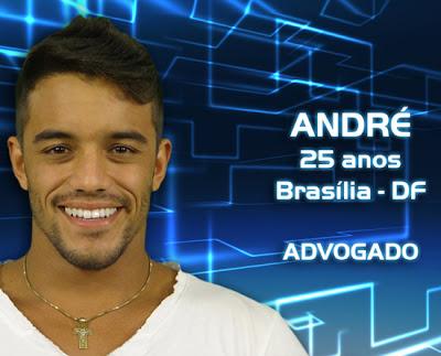 Lista de participantes do BBB 13 - André - Brasília DF - Flagras - Fotos