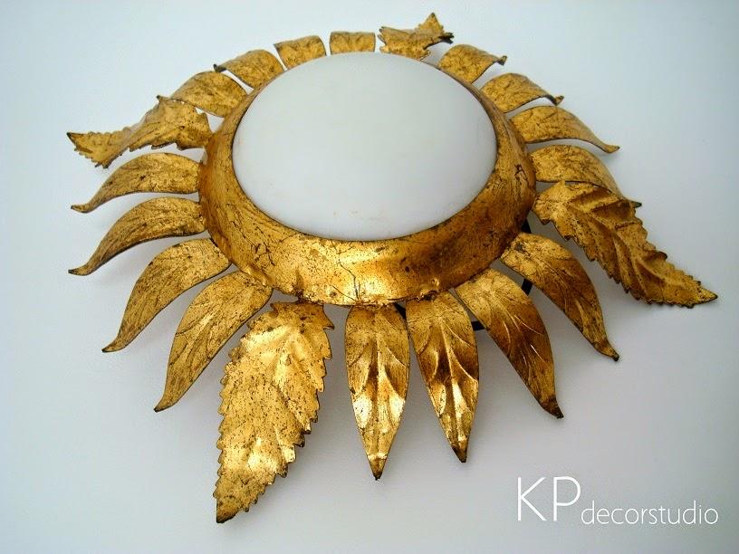 Kp tienda vintage online aplique sol vintage dorado con pan de oro vintage sun wall sconce - Apliques de pared clasicos ...