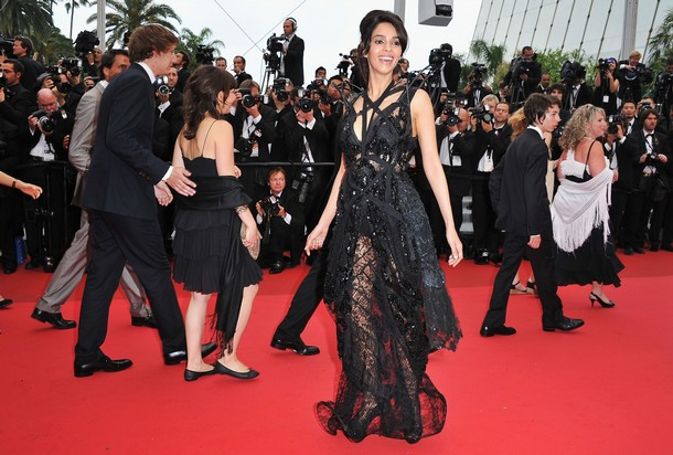 Mallika Sherawat In Sexy Black Dress at 64th Annual Cannes Film Festival