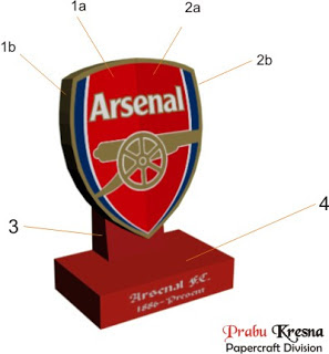 Arsenal Logo Papercraft