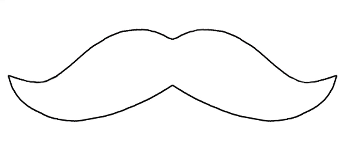Outline the moustache pattern twice   n the back side of the    Mustache Outline