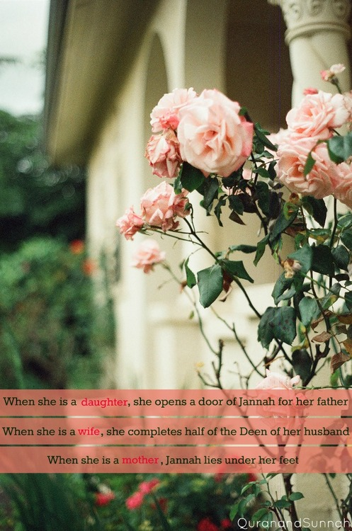 daughter,wife and mother islamic quote