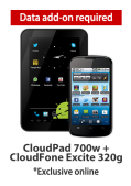 Globe CloudPad + CloudFone Excite