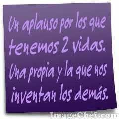 Un aplauso...