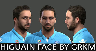 PES 2013 Higuain Face by Grkm