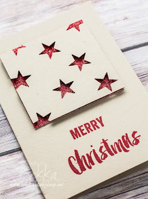 Fast and Fabulous Sparkly Star Christmas Card - Get the details here