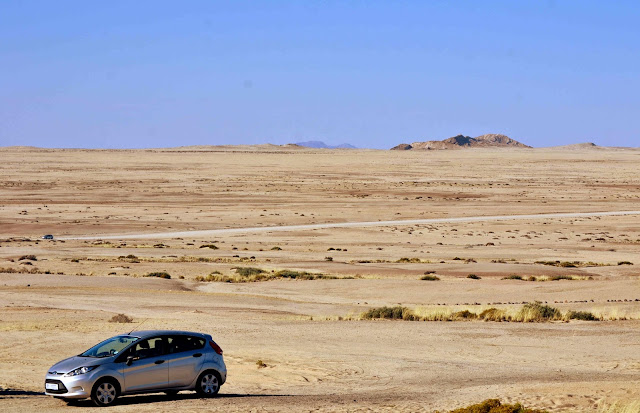 Ford in Namibia flat landscape