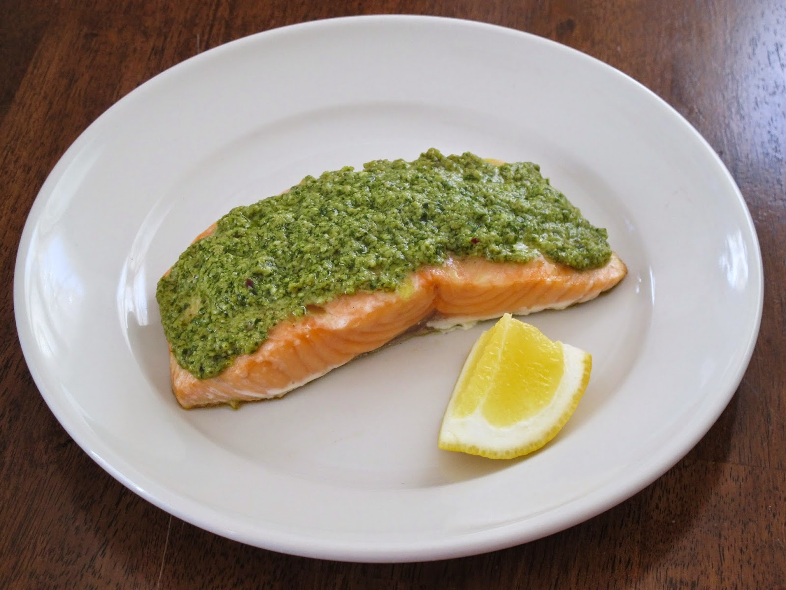 Pesto-Dijon-Lemon Salmon