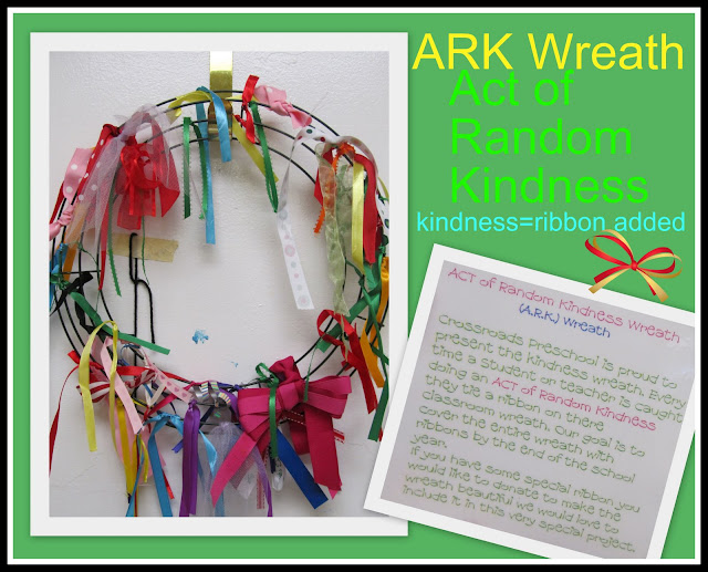 "photo of: Teaching ""kindness"" to children with simple wreath as reinforcement tool"