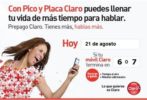 pico y placa claro colombia hoy martes 21 agosto 2012 hoy es dia pico
