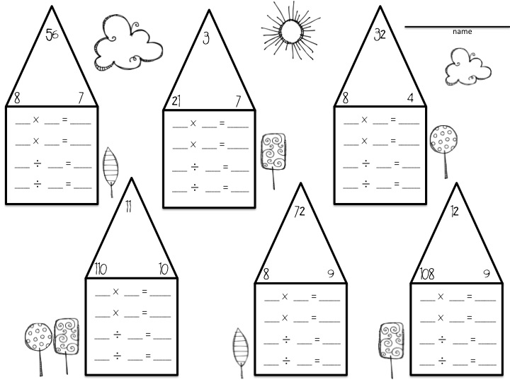 Division Lessons Tes Teach – Multiplication Fact Families Worksheets