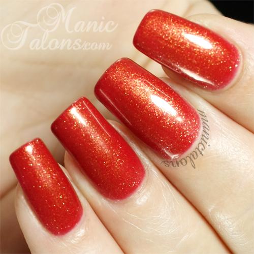 Revel Nail Gel Polish Lava Swatch