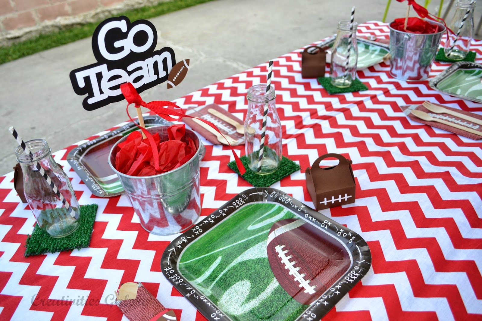 Creativities Galore:: Football Place Setting