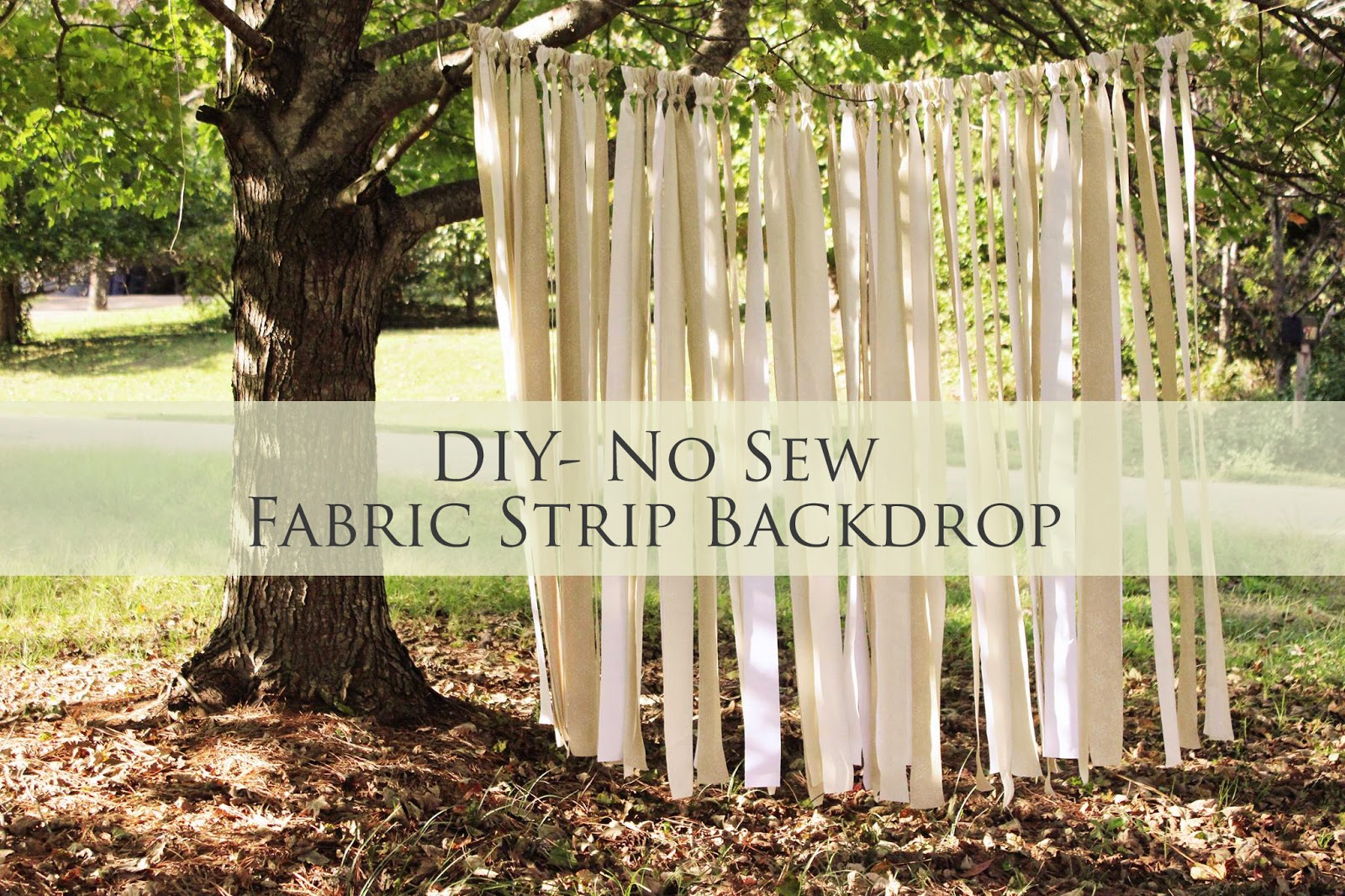 A Practical Pair Diy Fabric Strip Backdrop