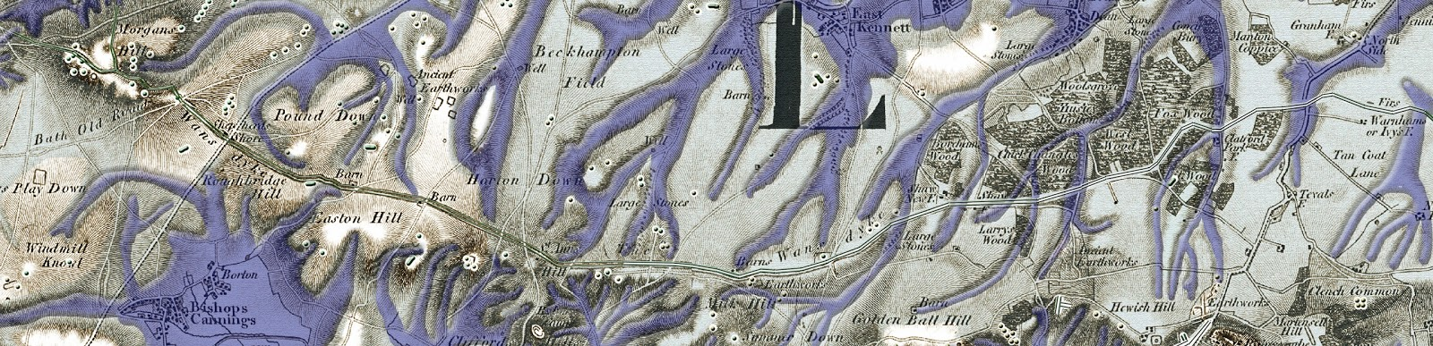 Prehistoric Wansdyke Map