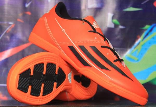 Jual Sepatu Futsal Terbaru Adidas F5 Orange Hitam Orange