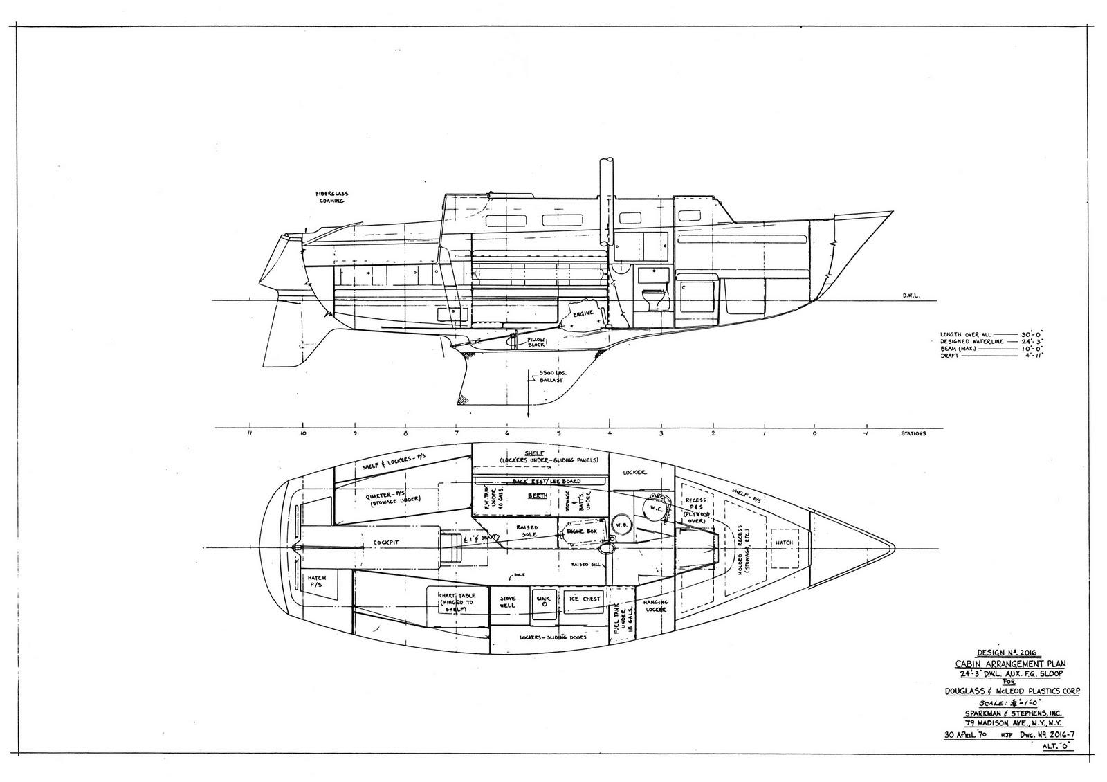 Sibabob  Archive Yawl Sailboat Plan