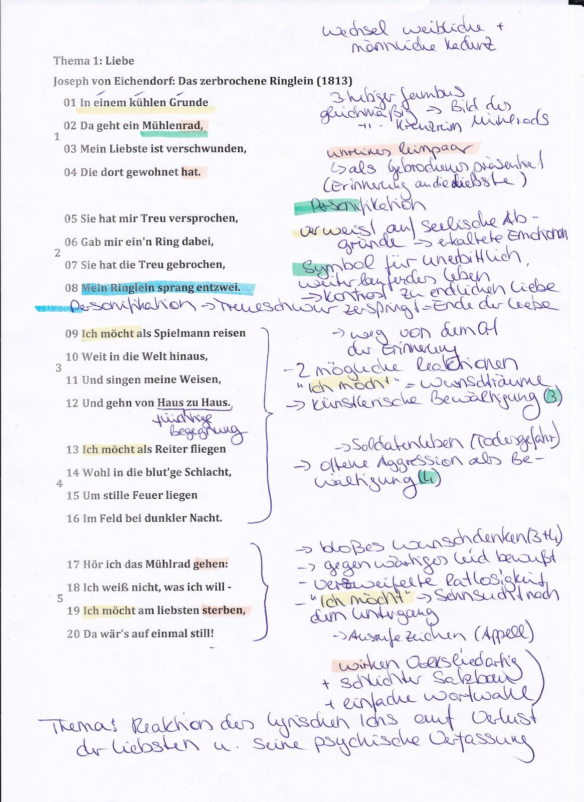 Gedichte von goethe analyse