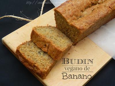 Budín vegano de banano