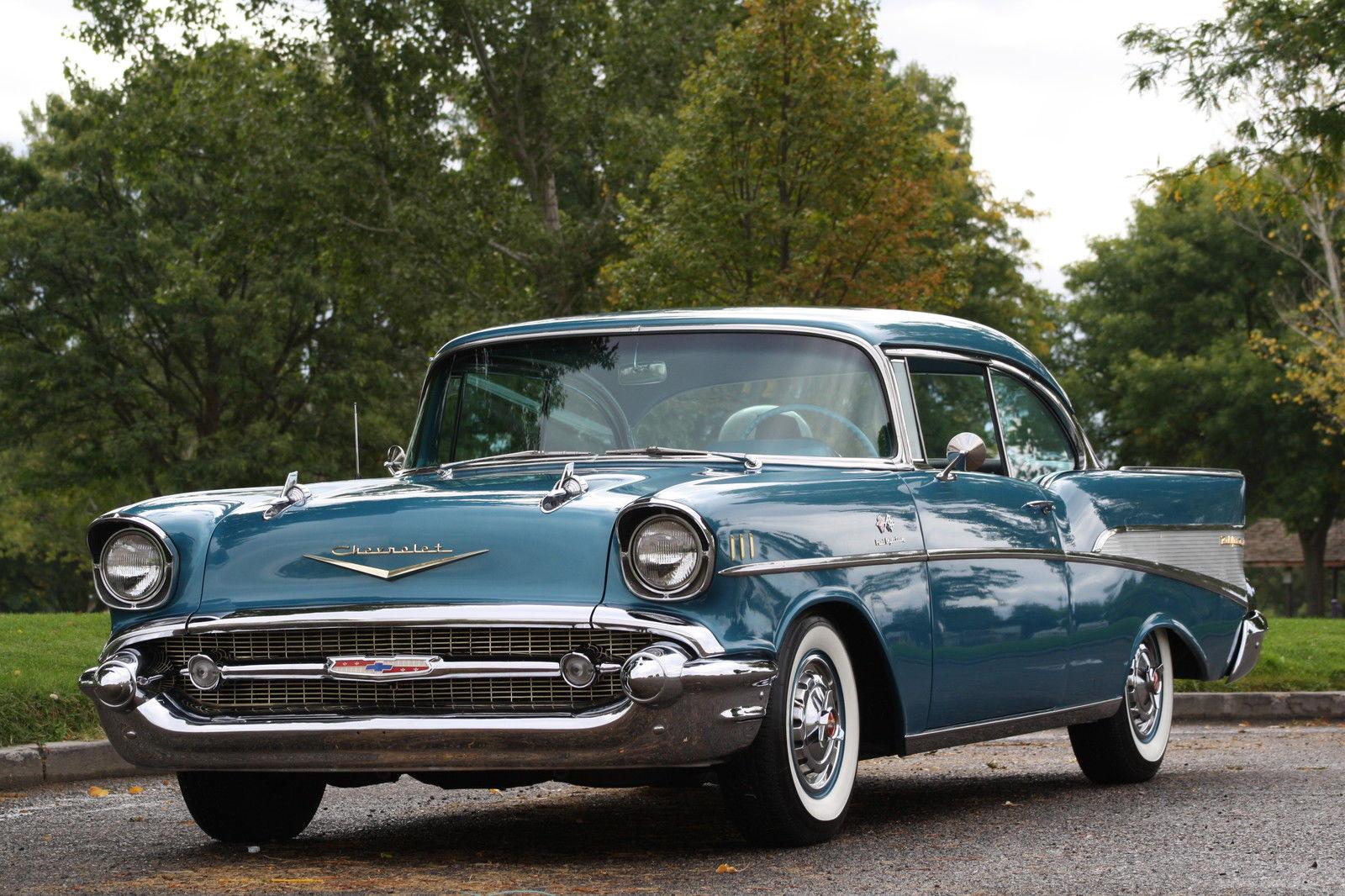 All american classic cars 1957 chevrolet bel air 2 door for 1957 chevy two door hardtop