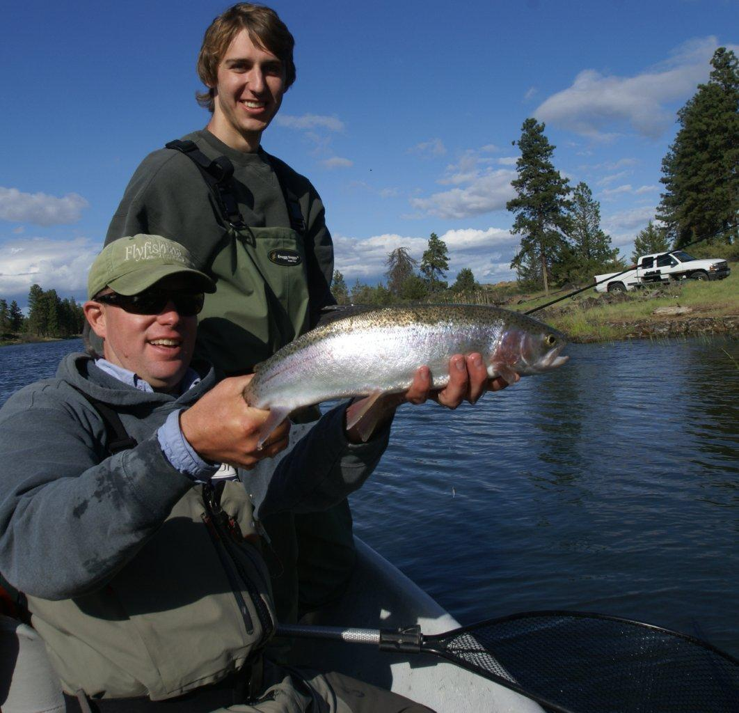 Fly fish oregon water time report father son fishing for Fishing trips oregon