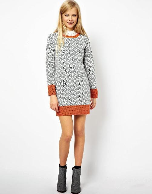 jumper jacquard dress