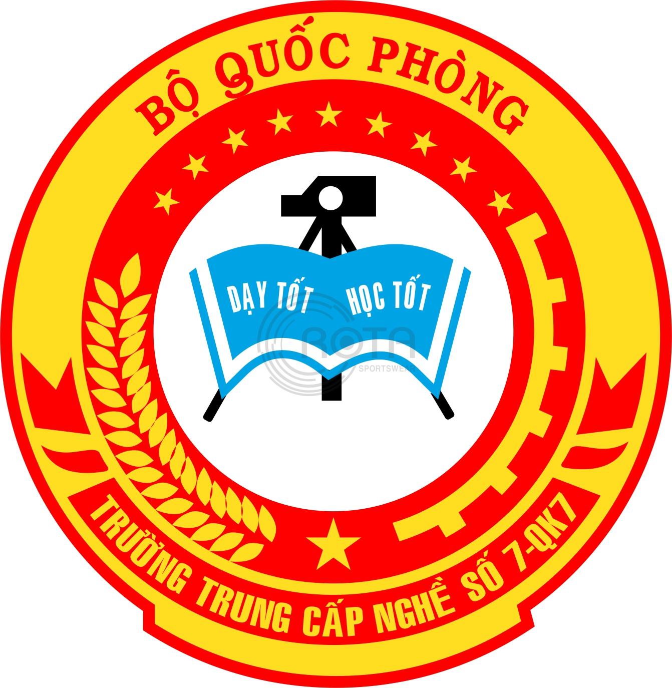 logo team football logo trư��ng trung c��p ngh� s�� 7 qk7