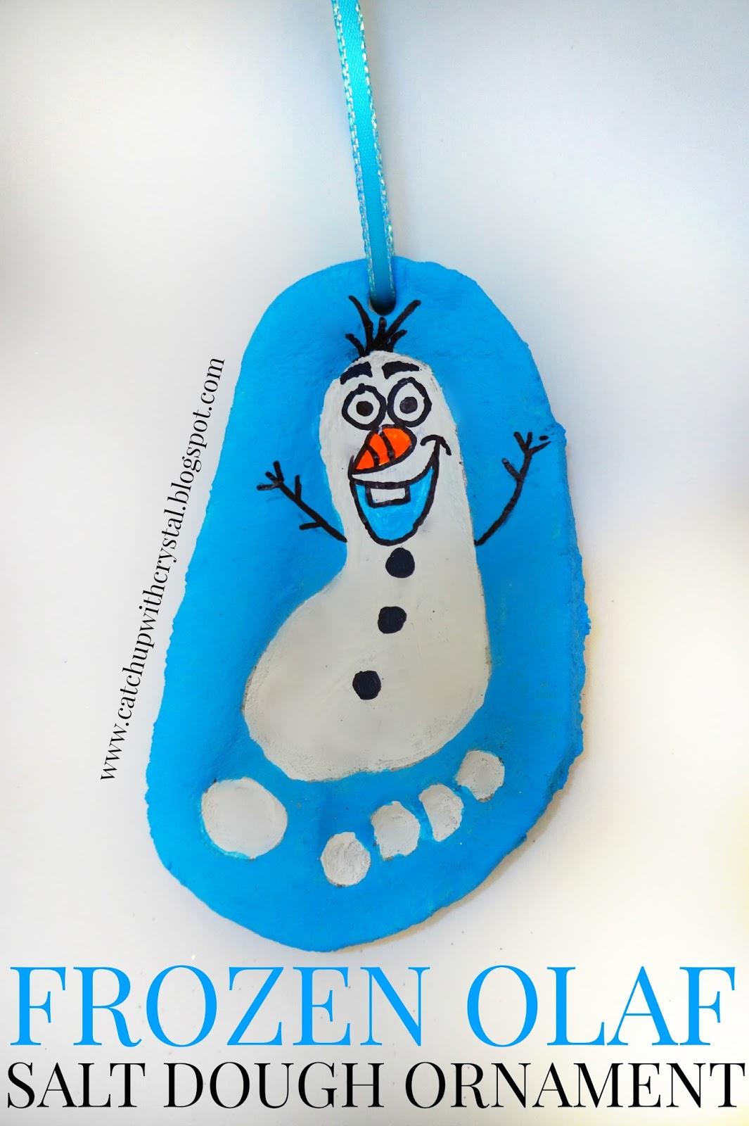 CRYSTAL AND KIDS: Frozen Olaf Salt Dough Ornament