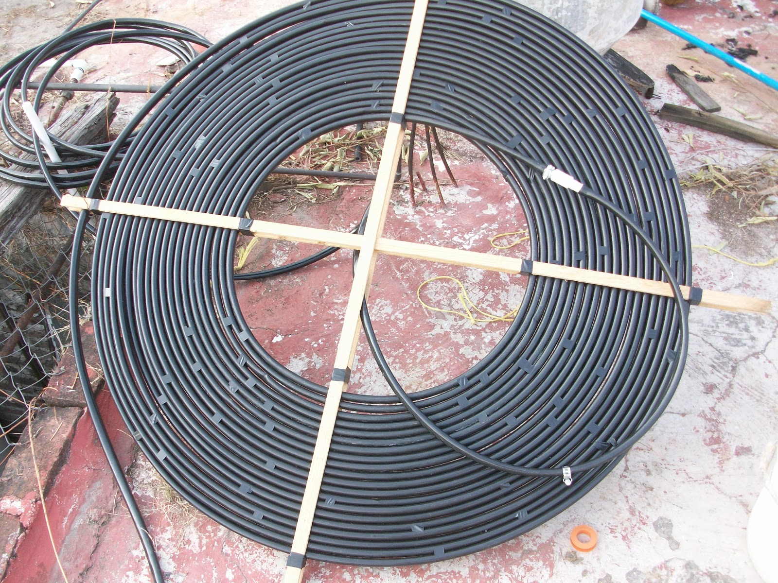 Bit cora del capit n calentador solar casero for Calentador solar piscina casero